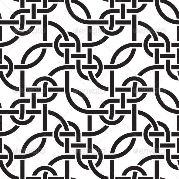 Weaving Lines Seamless Pattern
