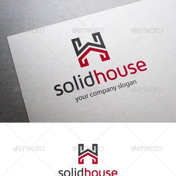 Solid House H Letter Logo