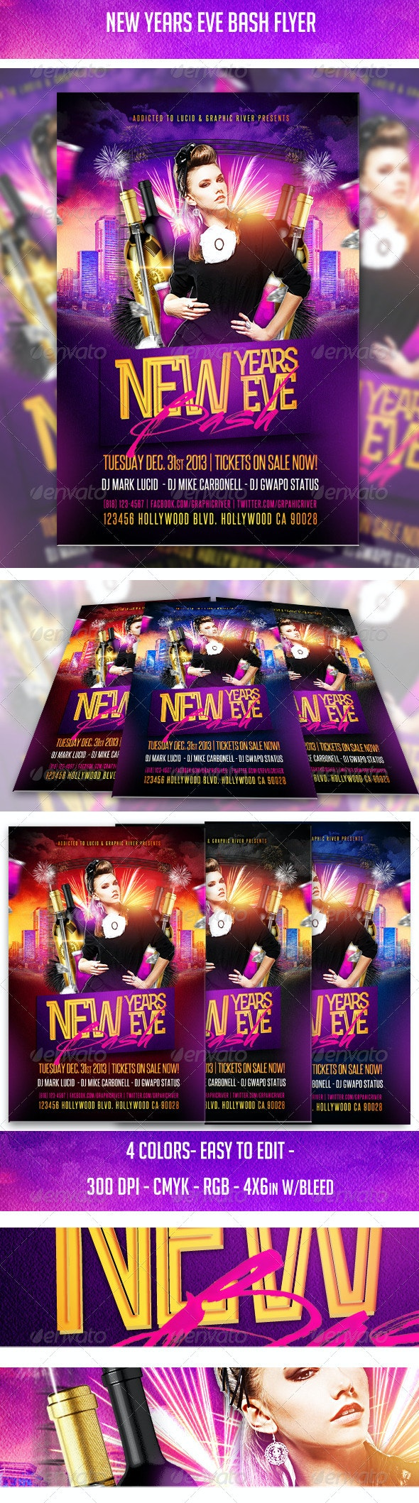 New Years Eve Bash Flyer - Clubs & Parties Events
