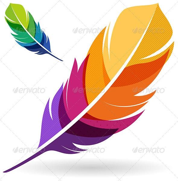 Colorful Feathers - Decorative Symbols Decorative