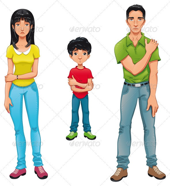 Sick family. - People Characters