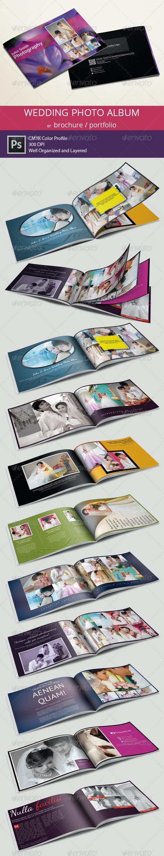 Wedding Photo Album or Portfolio - Photo Albums Print Templates
