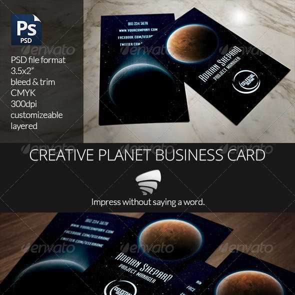 Creative Planet Business Card