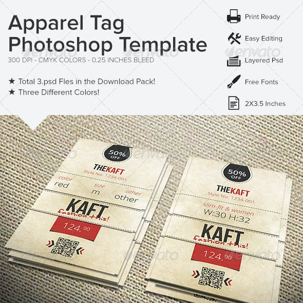 Apparel Tag Photoshop Template