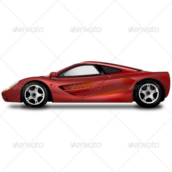 Vector Realistic Sports Car