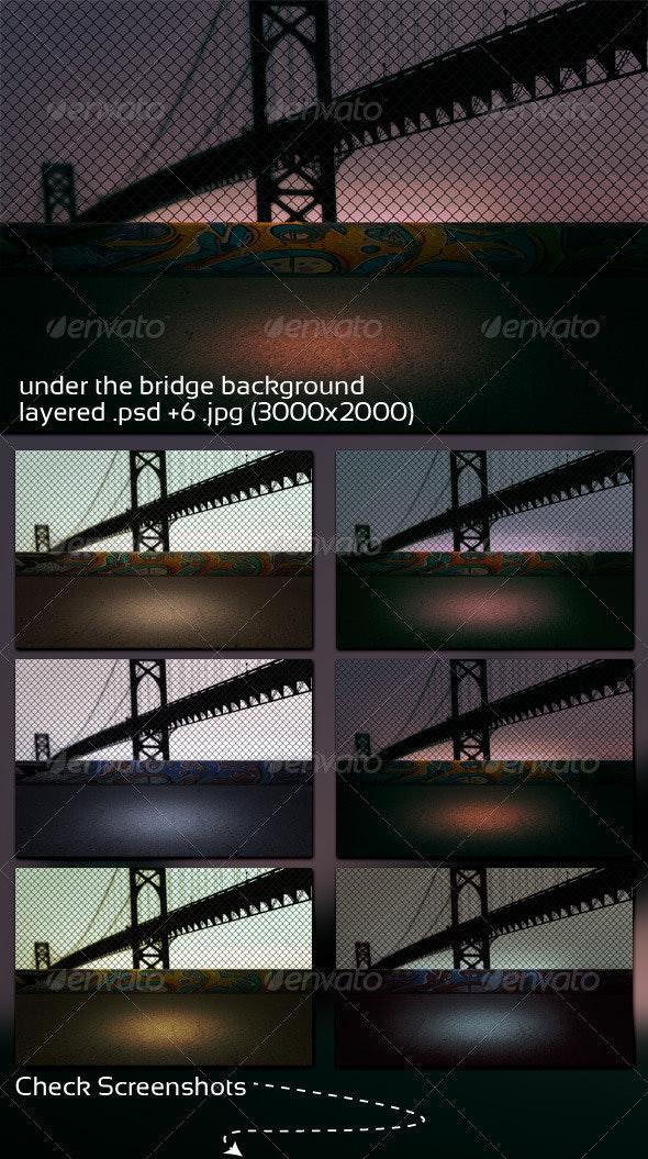 Under the Bridge Background - 3D Backgrounds