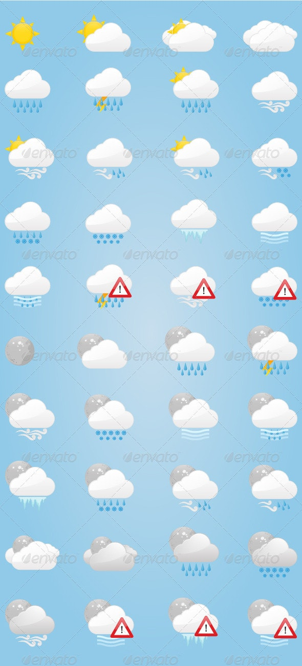 Weather Icons - Miscellaneous Characters