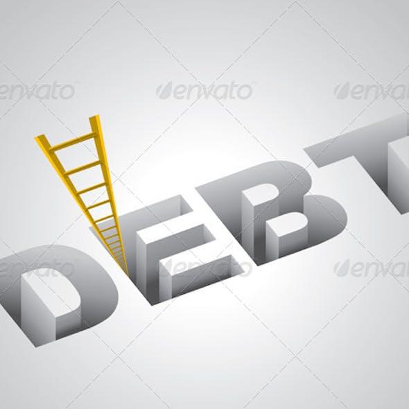 Climbing Out of Debt Concept