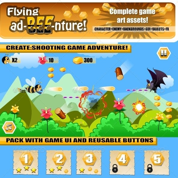 Bee Adventure Game Assets