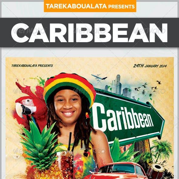 Caribbean Flyer Template