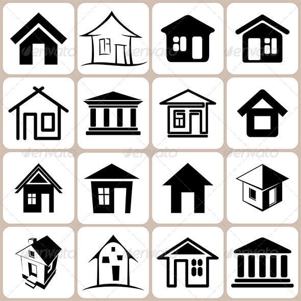 16 House Icons Set