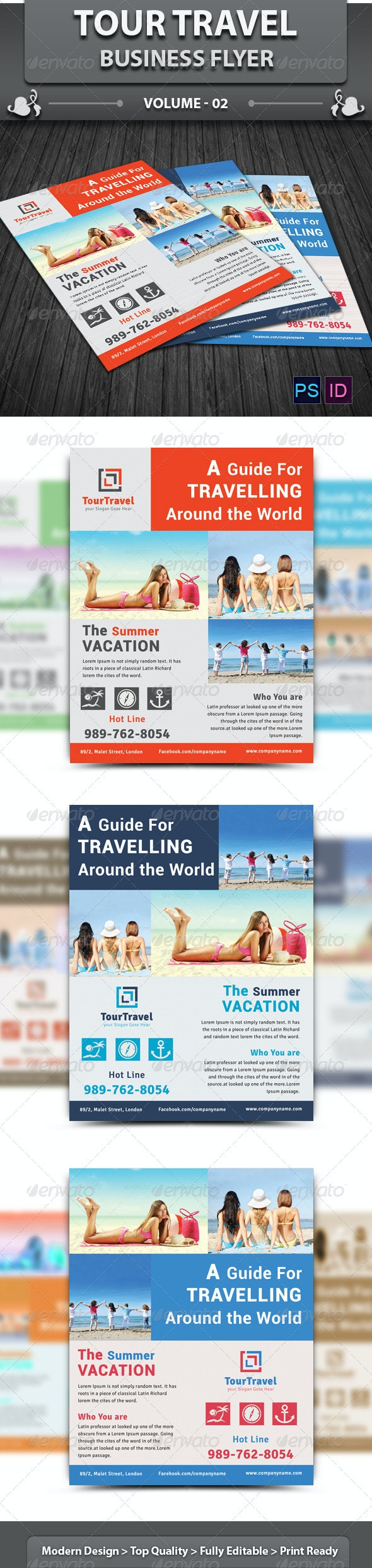 Travel / Tourism Business Flyer | Volume 2 - Corporate Flyers
