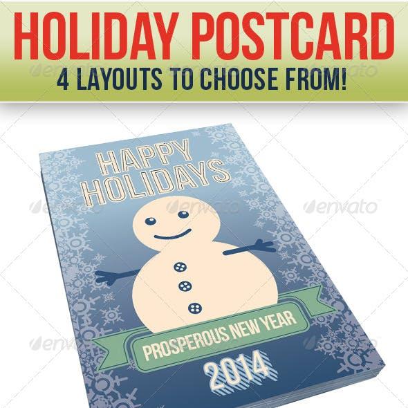 Holidays Postcard (4 Set Bundle)