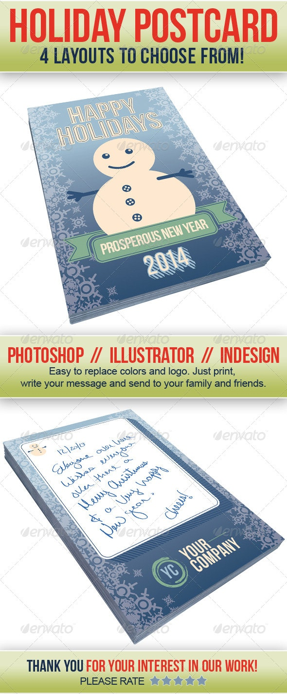 Holidays Postcard (4 Set Bundle) - Holidays Events