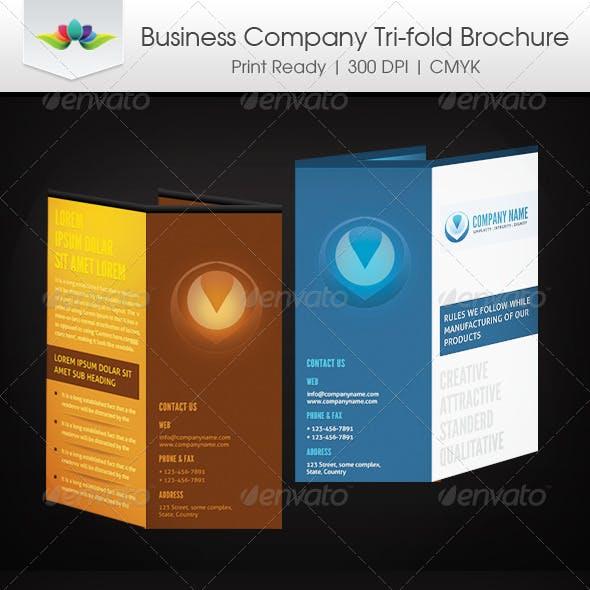 Business Company Tri-Fold