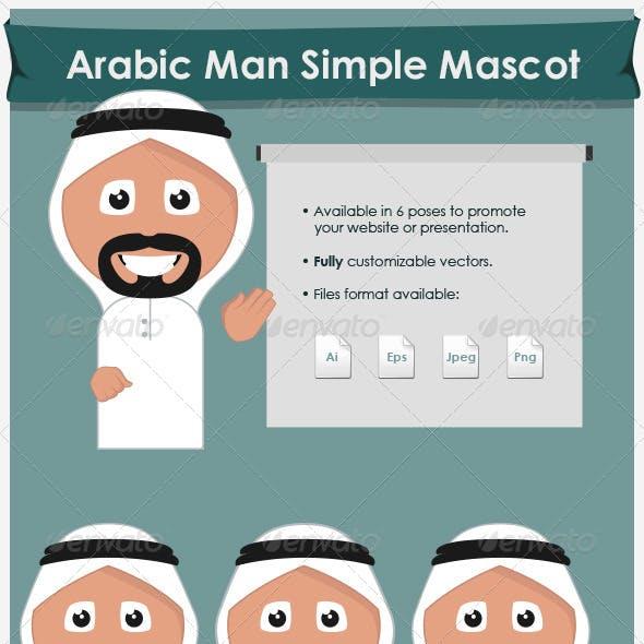 Arabic Man Simple Mascot