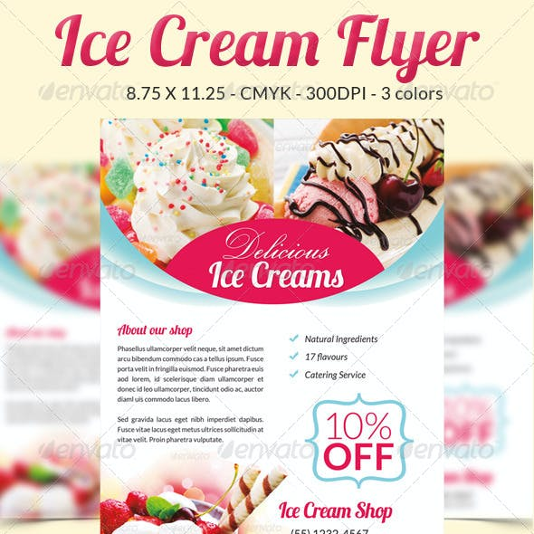 Ice Cream Flyer / Magazine Ad
