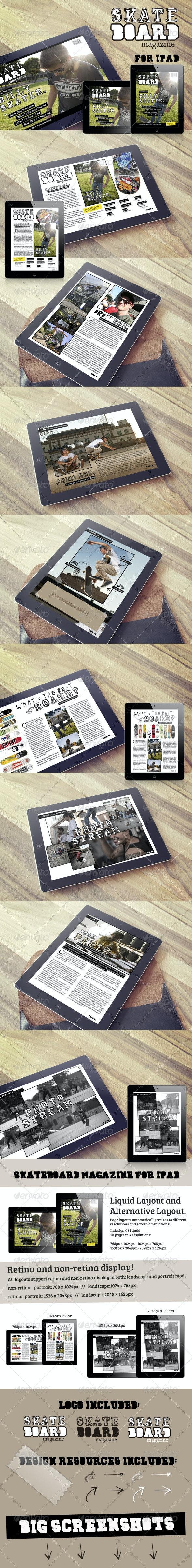 Skateboard Magazine Template for iPad - Digital Magazines ePublishing