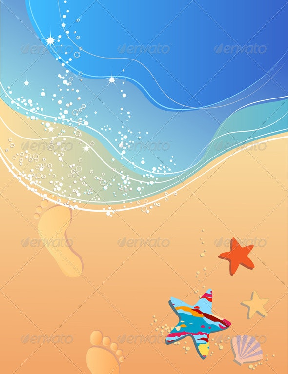 Beach and surf - Backgrounds Decorative