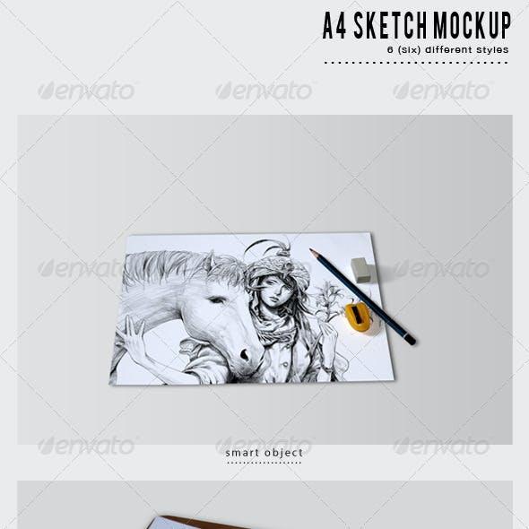 A4 Sketch Mockup