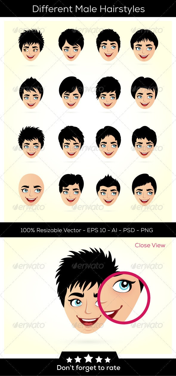 Hairstyles and Heads - People Characters