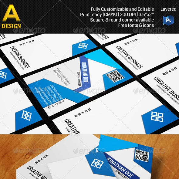 Corporate Professional Business Card AN0145
