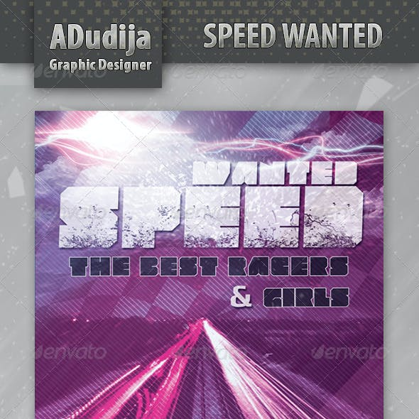 Speed Wanted Flyer