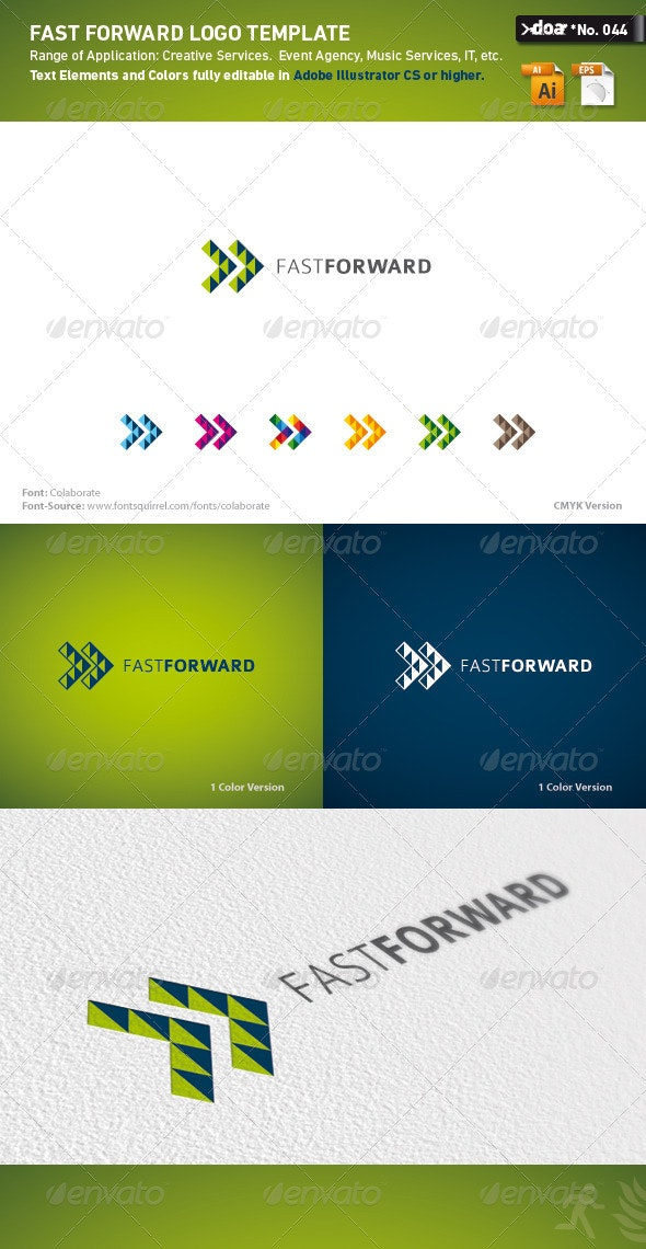 Fast Forward Logo Template - Symbols Logo Templates