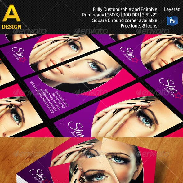 Beauty Salon Business Card A0145