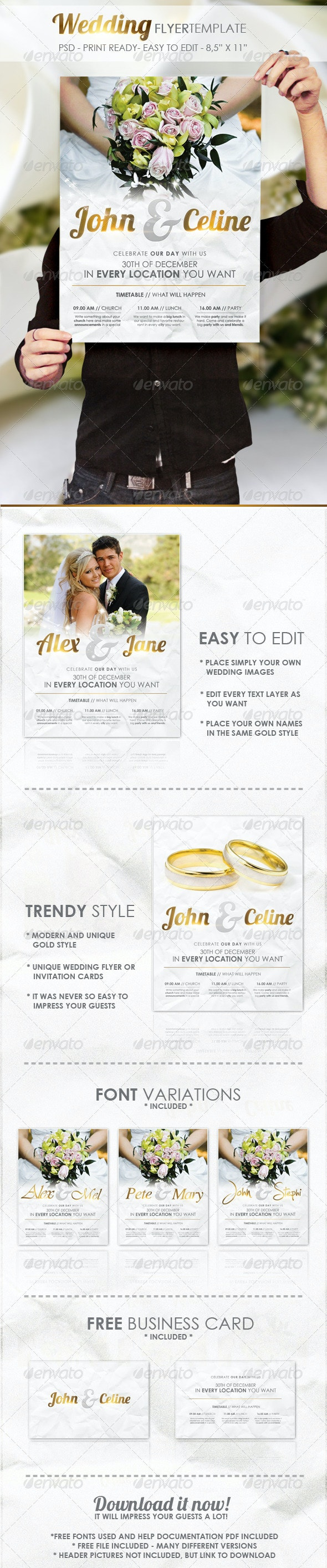 Wedding - Flyer Template - Miscellaneous Events
