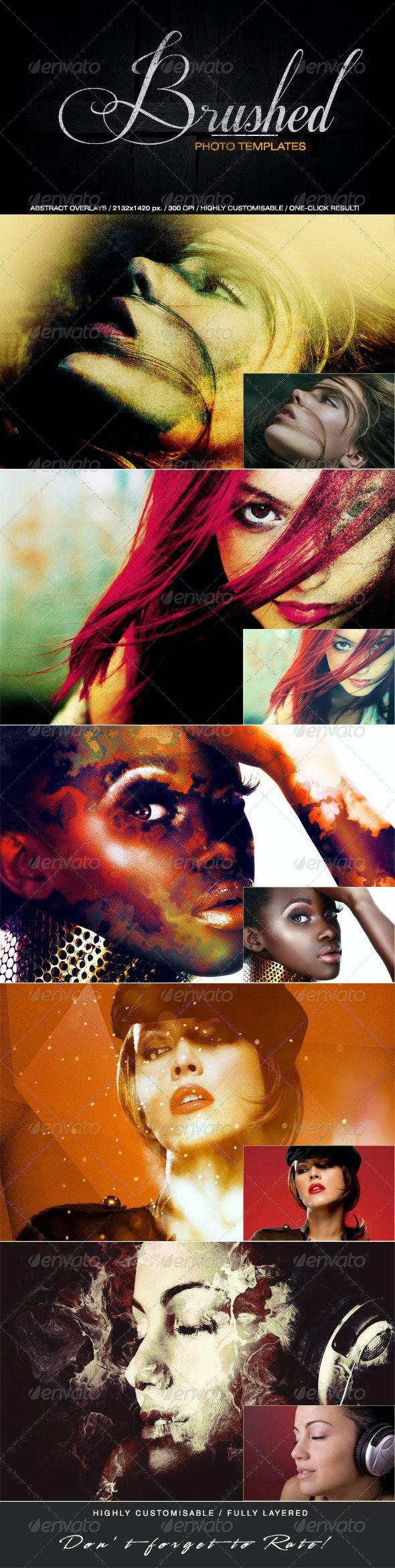 Brushed Photo Templates - Artistic Photo Templates