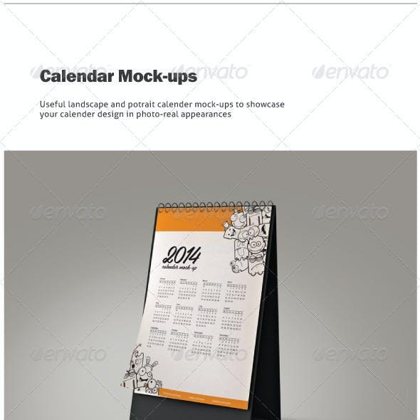 Calendar Mock-ups / Landscape and Portrait