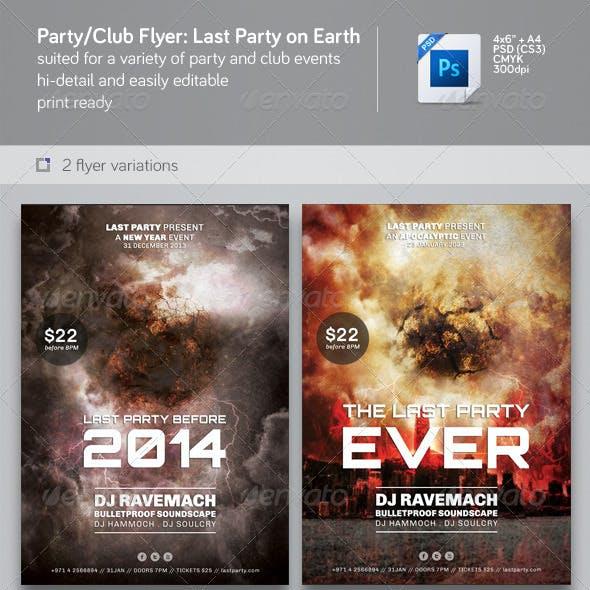 Party & Nightclub Flyer: Last Party