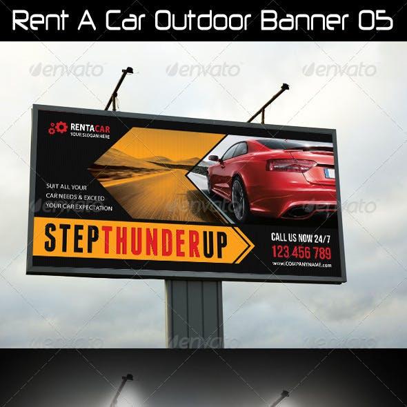 Rent A Car Outdoor Banner 05