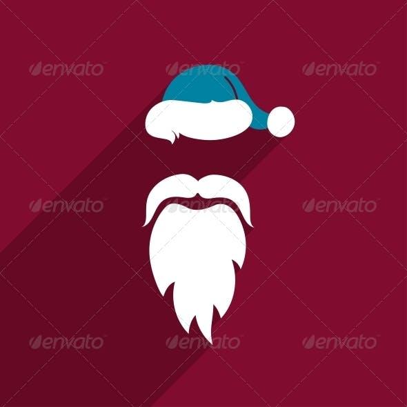 Flat Design Santa Claus Face