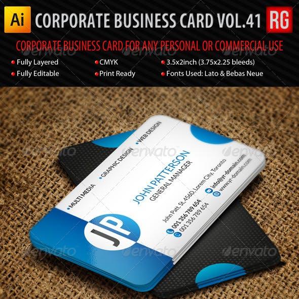 Corporate Business Card Vol.41