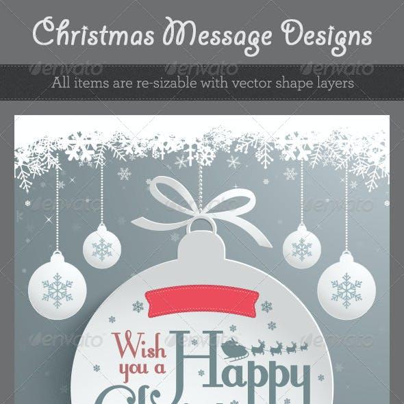 Christmas Message Designs