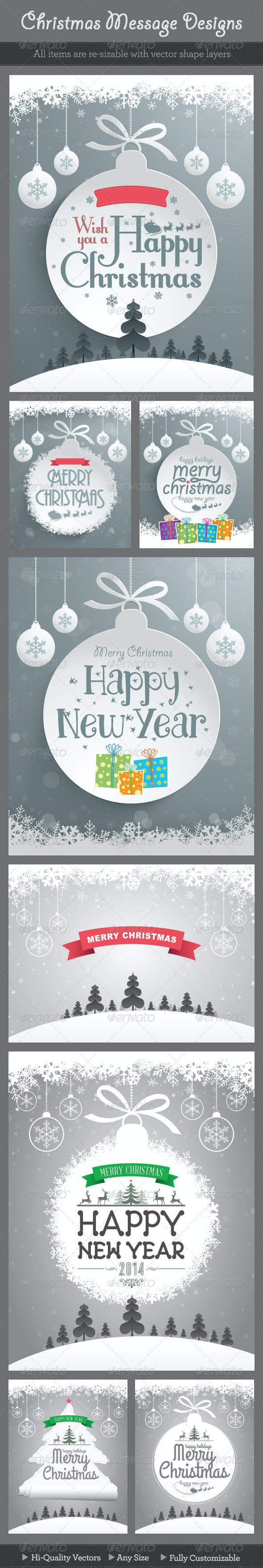 Christmas Message Designs - Backgrounds Decorative