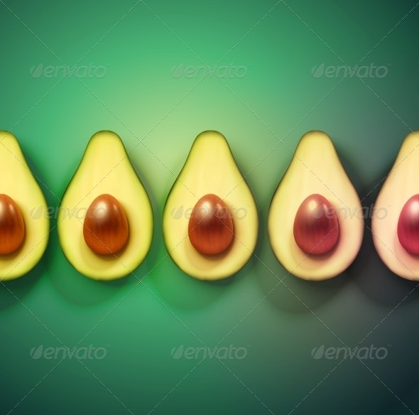 Background with Avocado - Food Objects