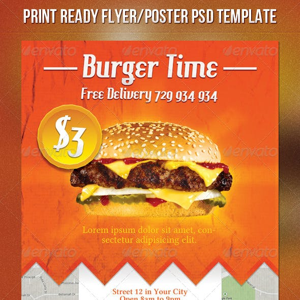 Burgers Fast Food Flyer