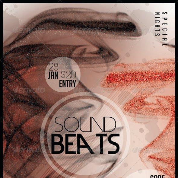 Sound Beats 4 Futuristic Flyer