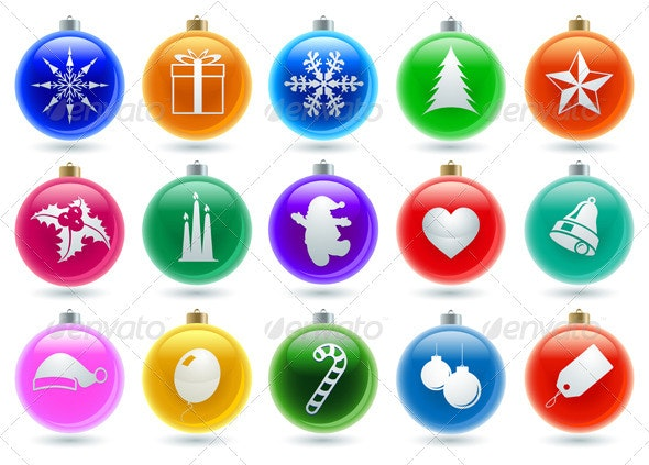 Christmas Ball Icon Collection - Christmas Seasons/Holidays