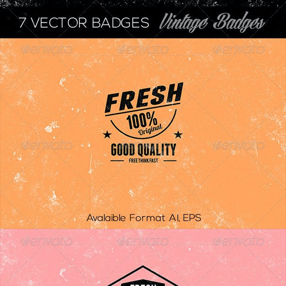 7 Vector Badges Vintage