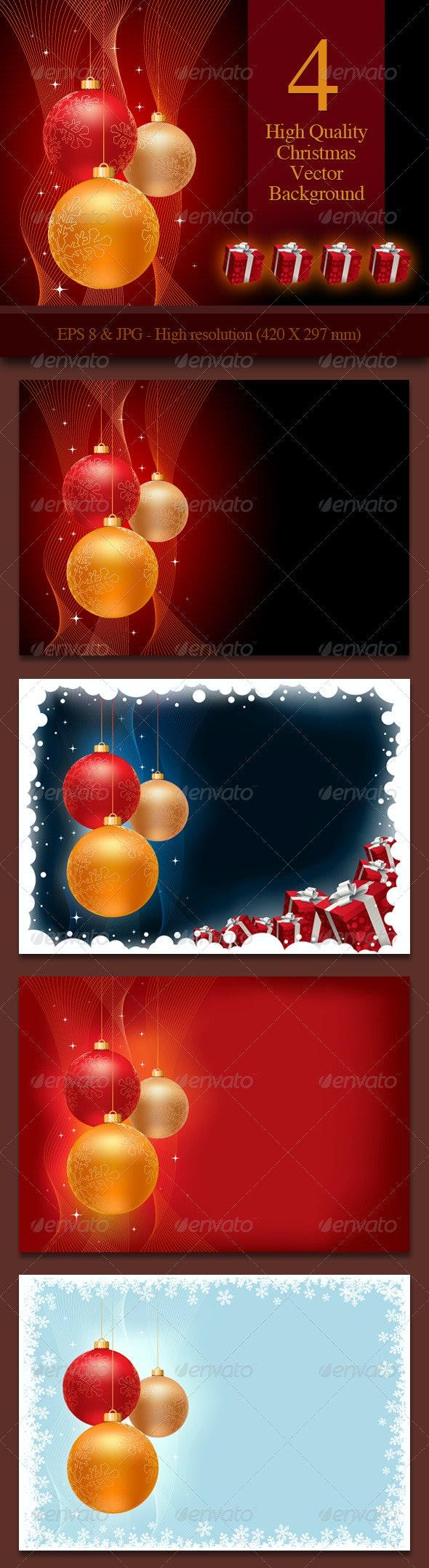 4 Christmas Background - Christmas Seasons/Holidays