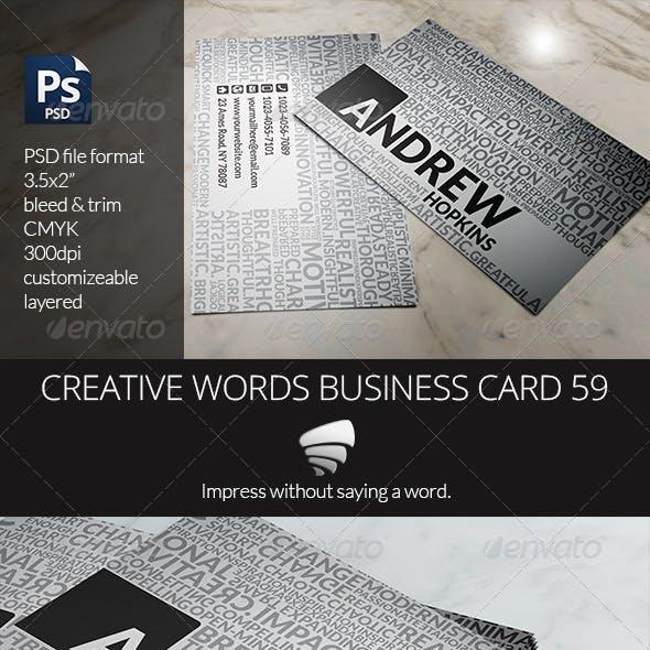 Creative Words Business Card 59