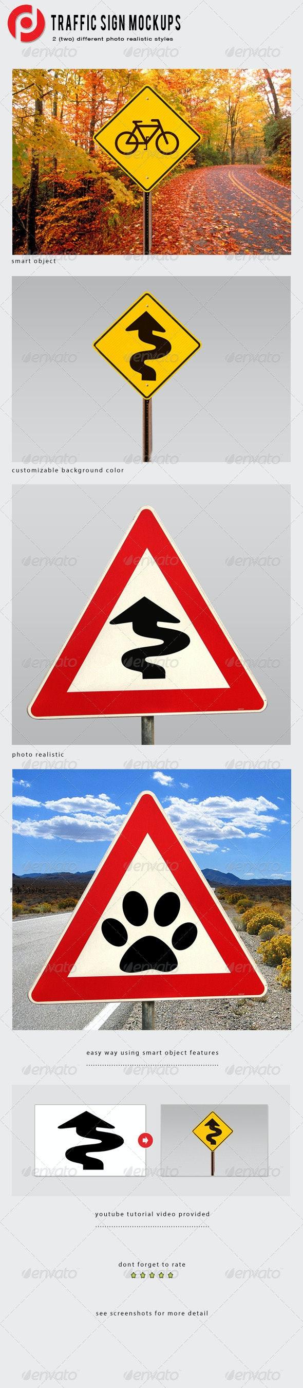 Traffic Sign Mockup - Miscellaneous Product Mock-Ups