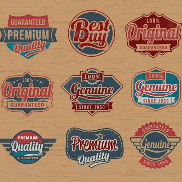 Premium Vintage Retro Label Badges