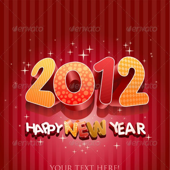 2012 Happy New Year Design Template