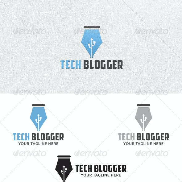 Tech Blogger - Logo Template