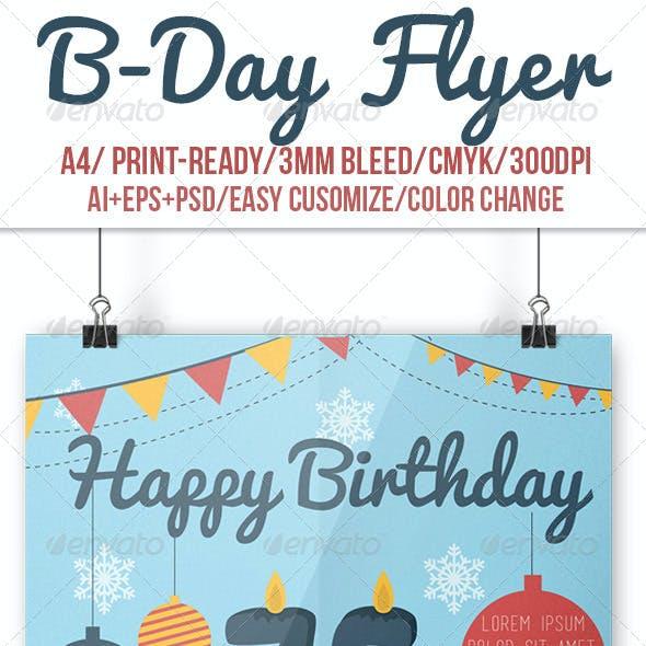 B-Day Flyer